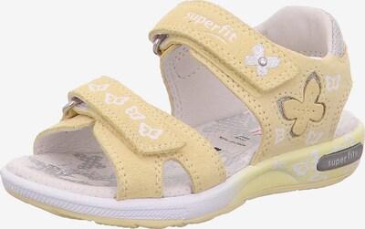 SUPERFIT Sandale 'Emily' in gelb / silber / weiß, Produktansicht