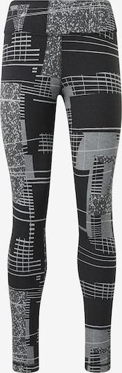 REEBOK Sportbroek in de kleur Grijs / Zwart, Productweergave