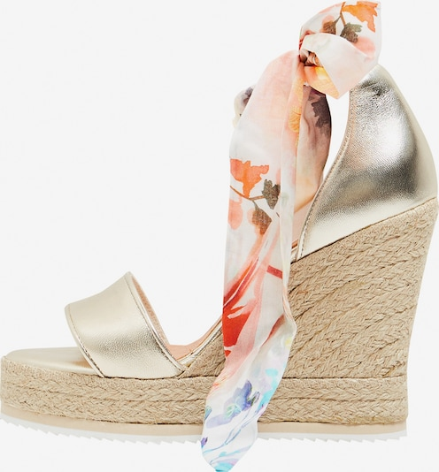 faina Wedges in gold: Frontalansicht