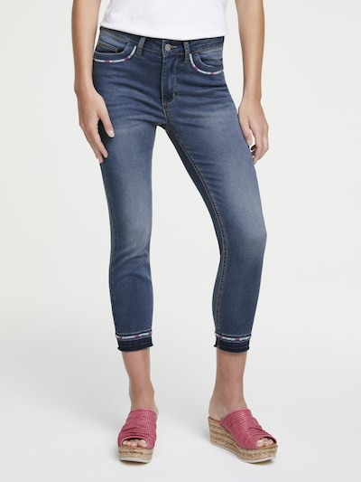heine heine CASUAL Push-up Jeans Aleria mit Stickerei in blue denim, Modelansicht
