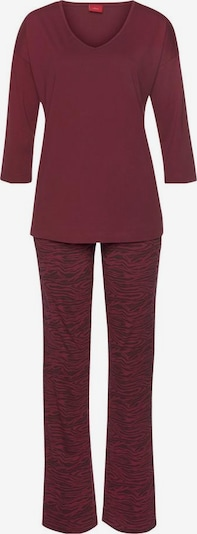 s.Oliver Pyjama in bordeaux / schwarz, Produktansicht