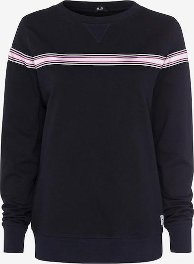 HIS JEANS Sweatshirt in dunkelpink / schwarz / weiß, Produktansicht
