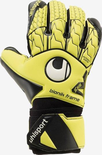 UHLSPORT Handschuhe 'Bionik' in gelb / schwarz / weiß, Produktansicht