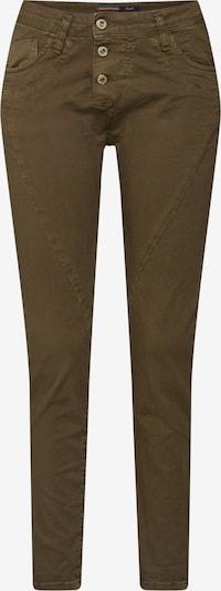 Please Now Hose 'trousers' in gold / dunkelgrün, Produktansicht