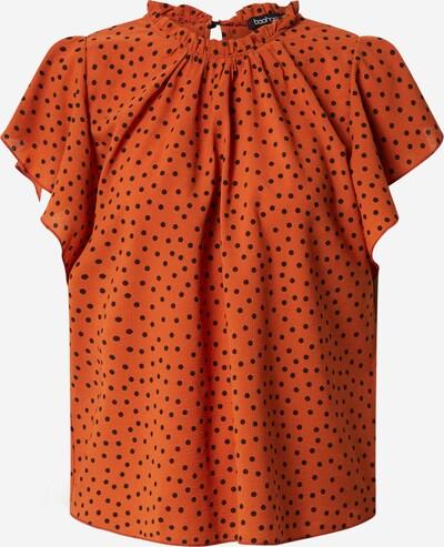 Boohoo Bluse 'Polka Dot Frill' in rot / schwarz, Produktansicht