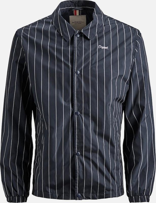 JACK & JONES Jacke in nachtblau   weiß  Markenkleidung für Männer und Frauen
