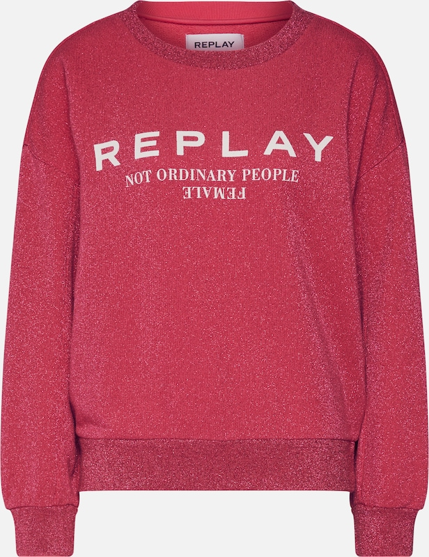 REPLAY Sweatshirt in cyclam, Produktansicht