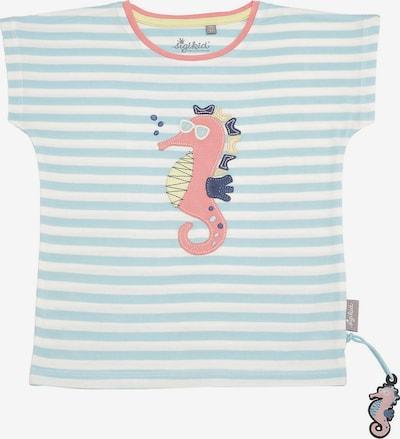 SIGIKID T-Shirt in türkis / limone / koralle / weiß, Produktansicht