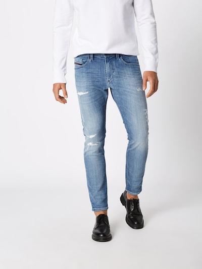 DIESEL Jeans 'THOMMER' in blue denim: Frontalansicht