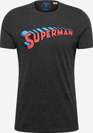 Mavi T-Shirt 'Superman' in hellblau / pastellrot / schwarz, Produktansicht