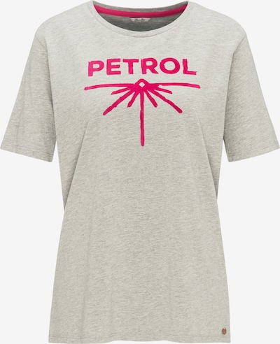 Petrol Industries T-Shirt in grau / dunkelpink, Produktansicht