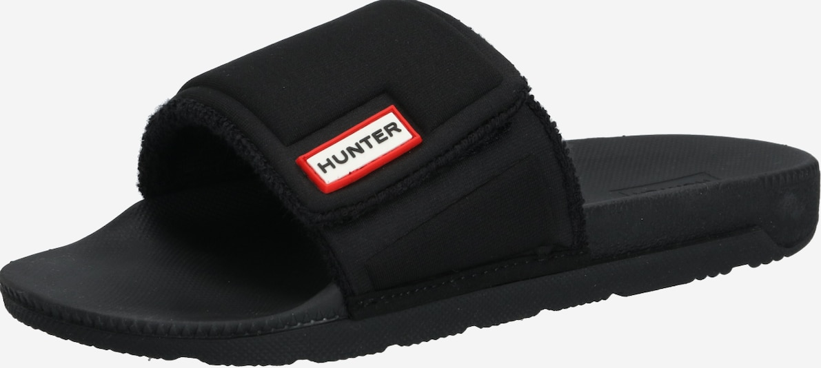 HUNTER Slipper 'ADJUSTABLE' in schwarz, Produktansicht
