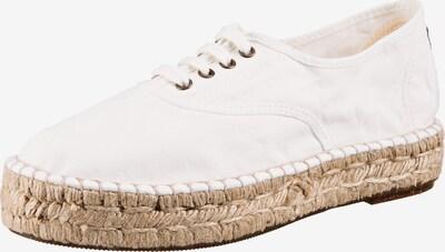 natural world Espadrilles in beige / weiß, Produktansicht