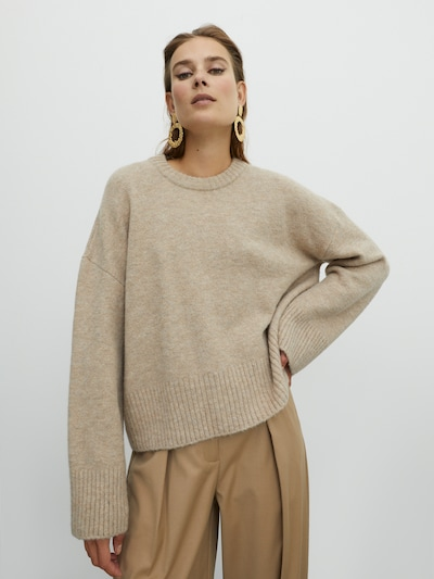 EDITED Pullover 'Grace' in beige, Modelansicht