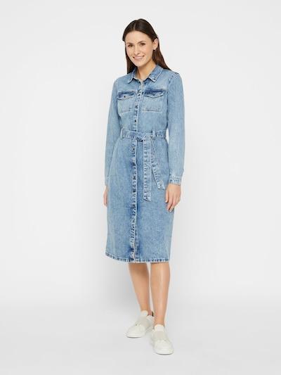 Rochie tip bluză 'NAMIR' PIECES pe albastru denim, Vizualizare model