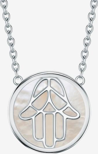 Rafaela Donata Halskette 'Hand der Fatima' in greige / silber: Frontalansicht