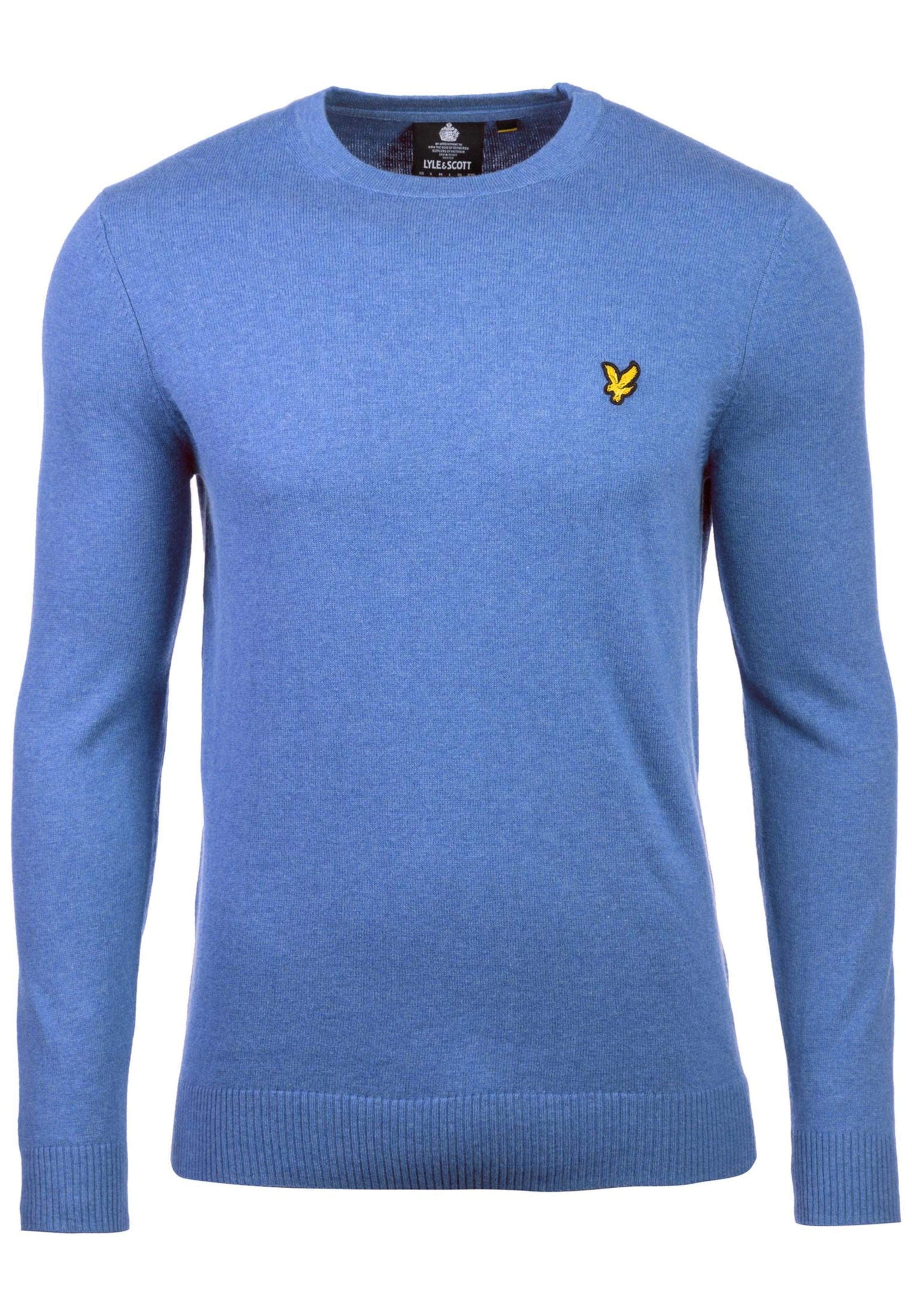 Lyleamp; En Bleu Scott Sweat 'merino' shirt RoiJaune OXuTkiPZ