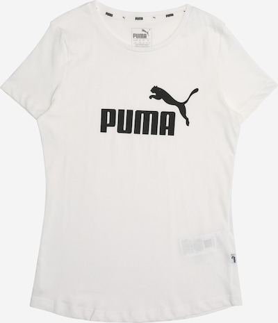 PUMA T-Shirt in schwarz / naturweiß: Frontalansicht