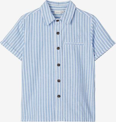 NAME IT Kurzärmeliges Baumwoll Hemd in blau, Produktansicht