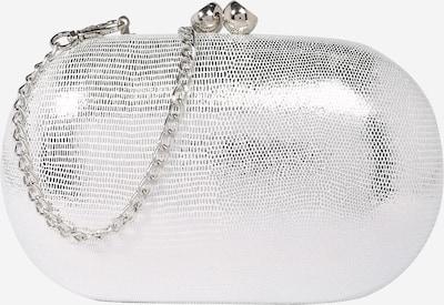 Dorothy Perkins Pisemska torbica 'SILVER ROUND SNAKE BOX' | srebrna barva, Prikaz izdelka