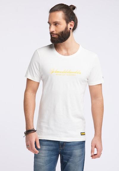 Schmuddelwedda T-Shirt in gelb / weiß: Frontalansicht