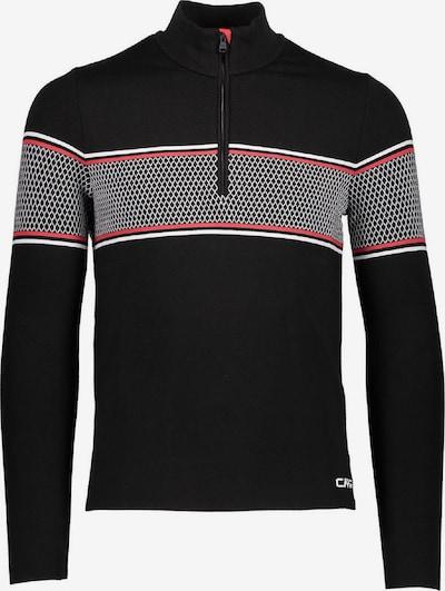 CMP Shirt in rot / schwarz / weiß, Produktansicht