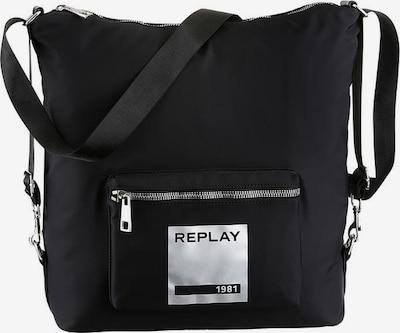 REPLAY Rucksack in schwarz / silber, Produktansicht