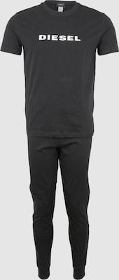DIESEL Pyjama lang 'UMSET-JAKE-JULIO' in Zwart