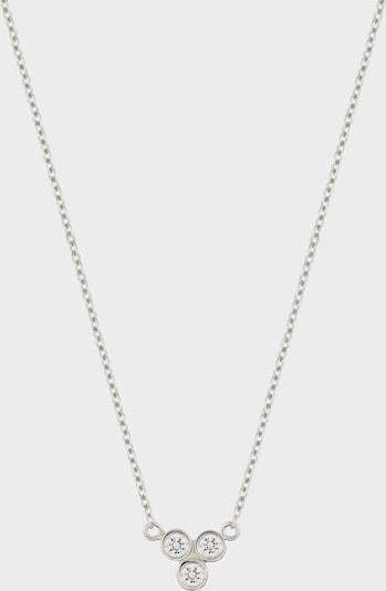 ID Fine Ketting 'Tristar' in de kleur Zilver, Productweergave