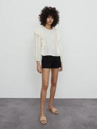 Čierne rifľové šortky značky EDITED