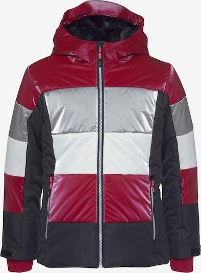 CMP Jacke in rot / schwarz / silber, Produktansicht