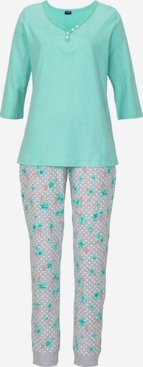 H.I.S Pyjama in aqua / graumeliert / koralle, Produktansicht