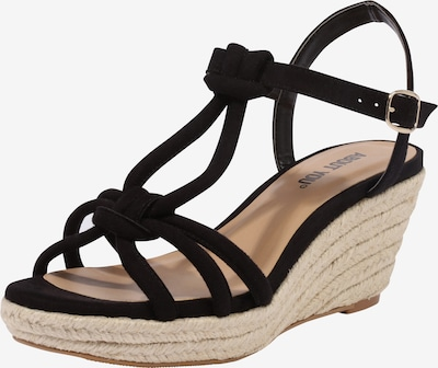 ABOUT YOU Sandalette 'FRANCES' in schwarz: Frontalansicht