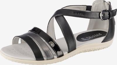 GEOX Vega Komfort-Sandalen in schwarz, Produktansicht