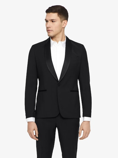 J.Lindeberg 'Savile Tux Comfort' Woll Blazer in schwarz: Frontalansicht