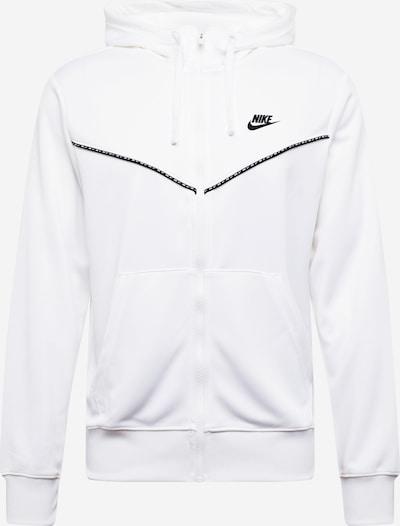 NIKE Sportovní mikina s kapucí 'Repeat' - černá / bílá, Produkt