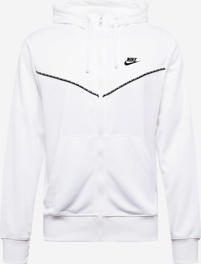 NIKE Sportsweatjacke 'Repeat' in schwarz / weiß, Produktansicht