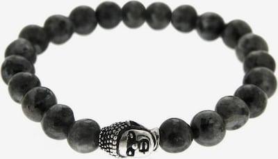 ROYAL-EGO Armband 'Buddha' in schwarz / silber, Produktansicht