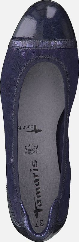 TAMARIS Slipper in navy: Draufsicht