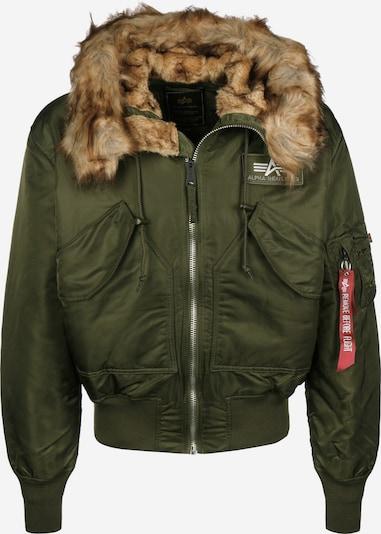ALPHA INDUSTRIES Tussenjas '45P Hooded' in de kleur Olijfgroen, Productweergave