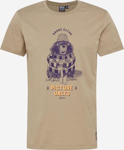 Picture Organic Clothing T-Shirt fonctionnel 'CASTORY' en jaune / kaki / bleu violet, Vue avec produit