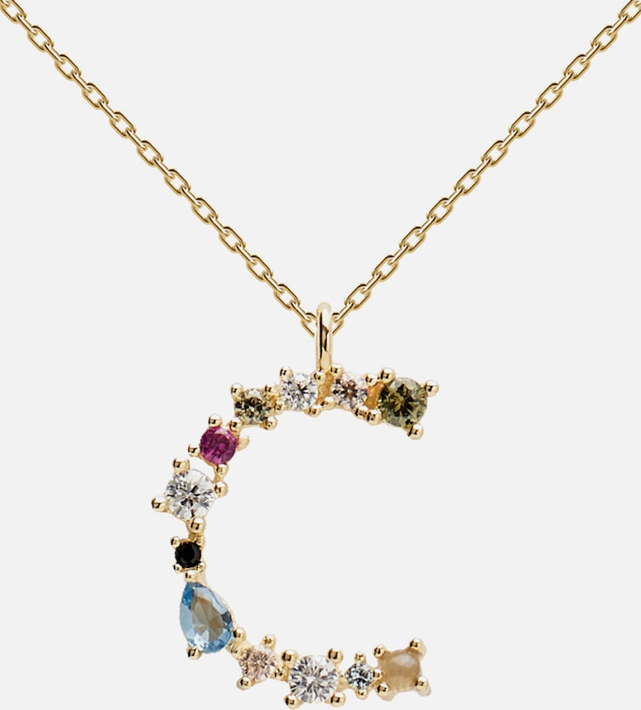 P D PAOLA Kette 'CO NECKLACE' in gold, Produktansicht