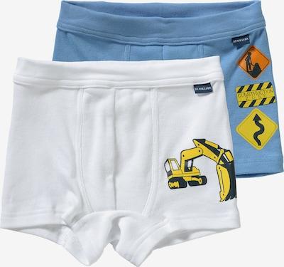 SCHIESSER Hipshorts in royalblau / mischfarben / weiß, Produktansicht