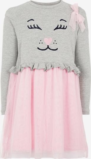 NAME IT Kleid in kobaltblau / graumeliert / rosa, Produktansicht