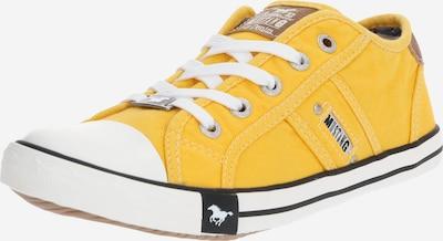 MUSTANG Sneaker in gelb / weiß, Produktansicht