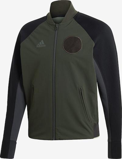 ADIDAS PERFORMANCE Sportjacke in khaki / schwarz, Produktansicht