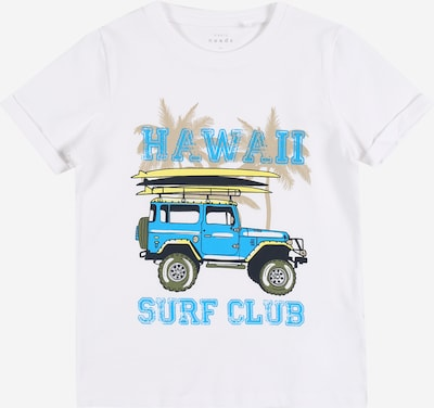 NAME IT Shirt 'NMMVUX' in blau / gelb / weiß, Produktansicht
