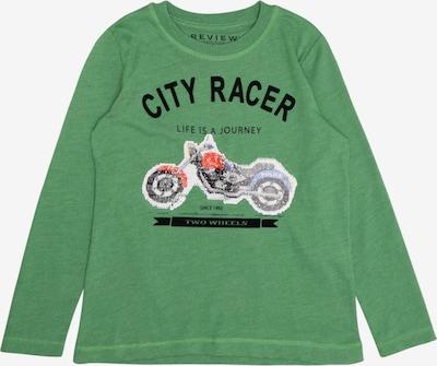 REVIEW FOR KIDS Shirt 'KB-19-T108' in grün / schwarz / weiß, Produktansicht