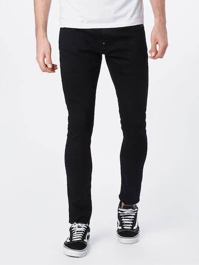 G-Star RAW Vaquero 'Revend Super Slim' en negro denim, Vista del modelo