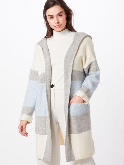 Mavi Cardigan 'STRIPE' in hellblau / graumeliert / naturweiß, Modelansicht